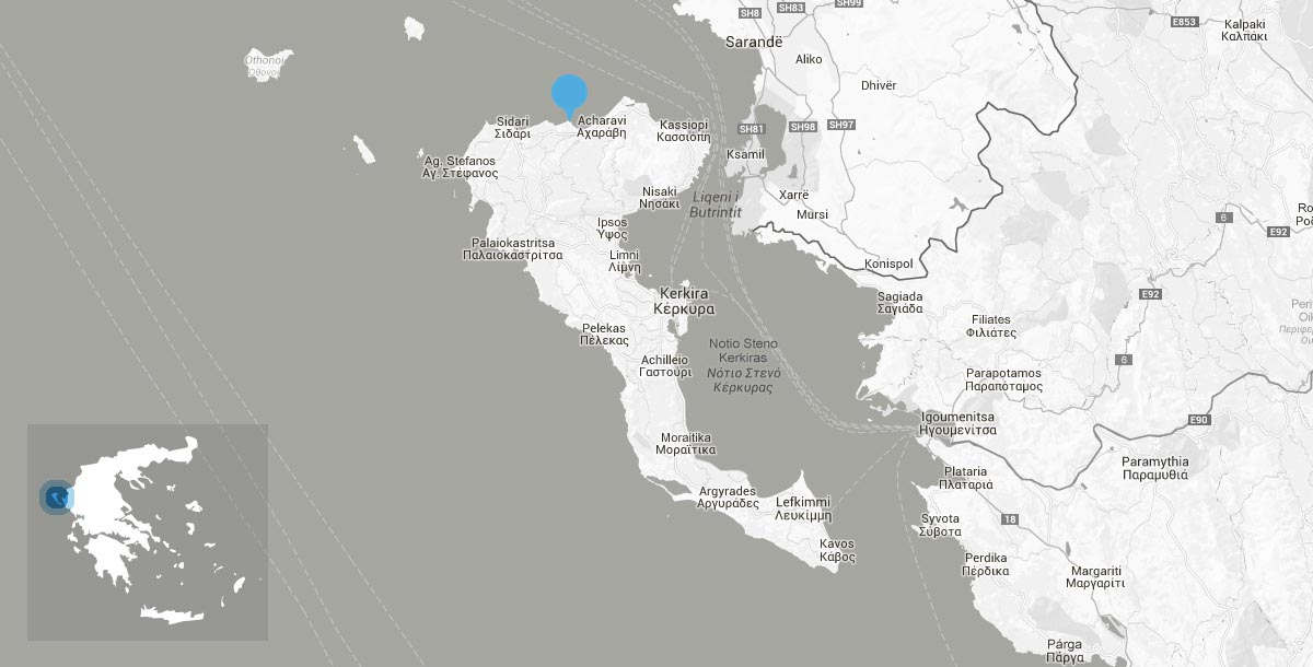 Location Karousades Corfu island Greece Roda Beach Corfu Hotel